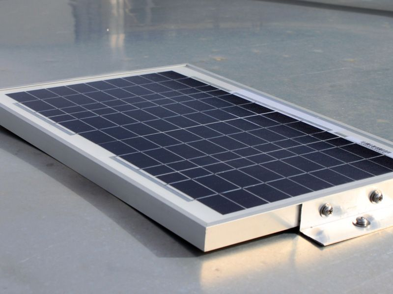 solar charged security system